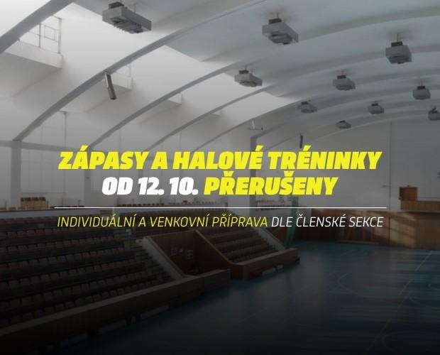 INFORMACE: Přerušení soutěží a halové přípravy od 12. října